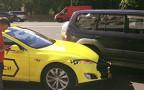 Электрокар-такси Tesla стал участником ДТП