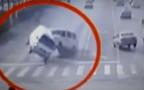 Аварию с левитацией засняли на видео