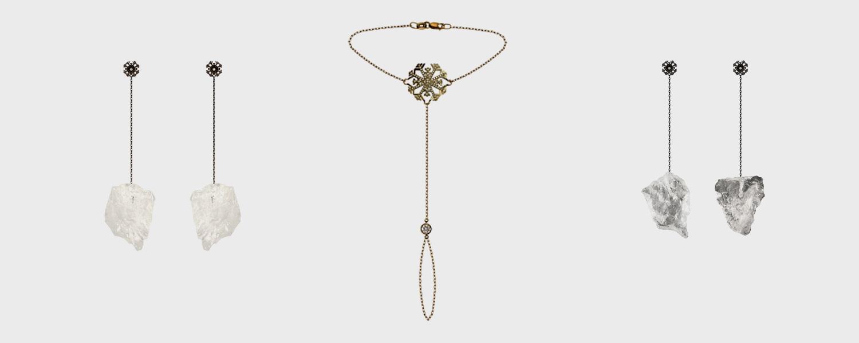 Цены от 3500 р. за кольцо до 32500 р. за серьги