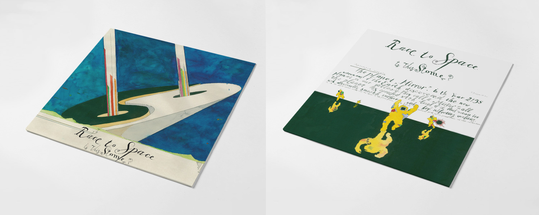 """Оформление альбому Race to Space сделал художник Павел Пепперштейн; интервью с ним можно прочитать <a href=""""http://vozduh.afisha.ru/art/pavel-peppershteyn-konec-svetaglavnyy-tovar-pri-kapitalizme/"""">здесь</a>"""