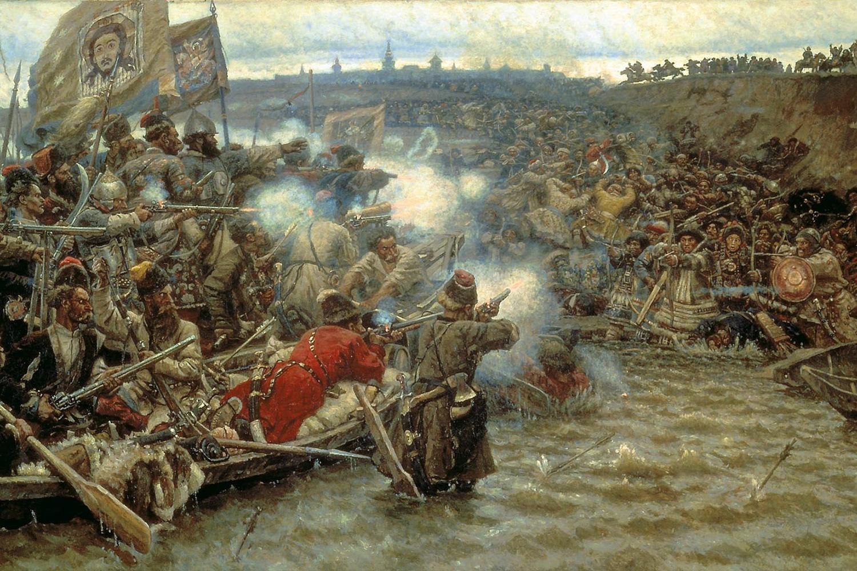 Василий Суриков. Покорение Сибири Ермаком, 1895