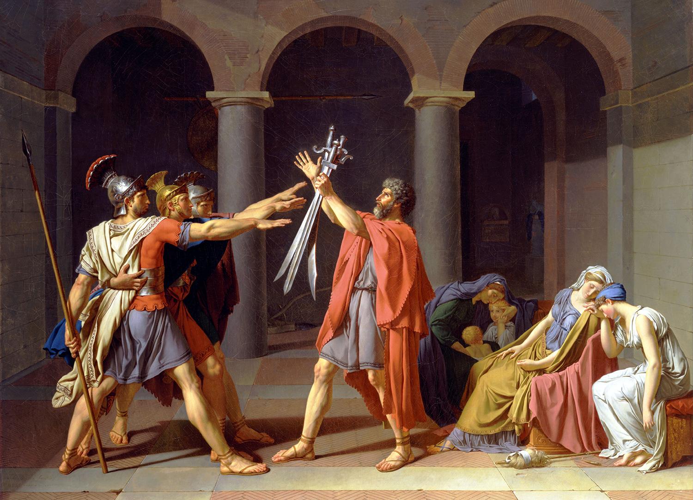 Жак Луи Давид. Клятва Горациев, 1784