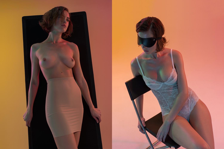 Слева — утягивающая юбка Oysho, 2199 р., справа —кружевное боди Oysho, 2699 р.