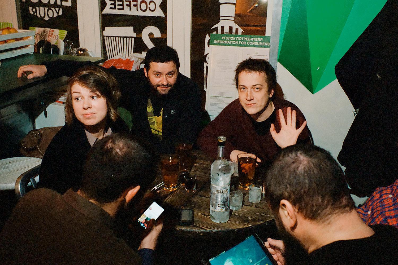 Слева направо: Ольга Уткина, Павел Гриншпун, Олег Коронный