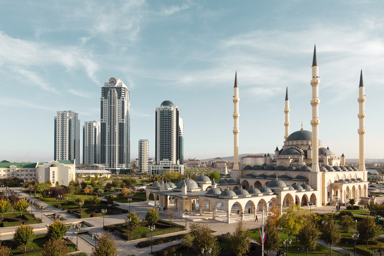 Мечеть «Сердце Чечни» имени Ахмата Кадырова, выстроенная в районе Грозный-Сити, — одна из самых больших в мире