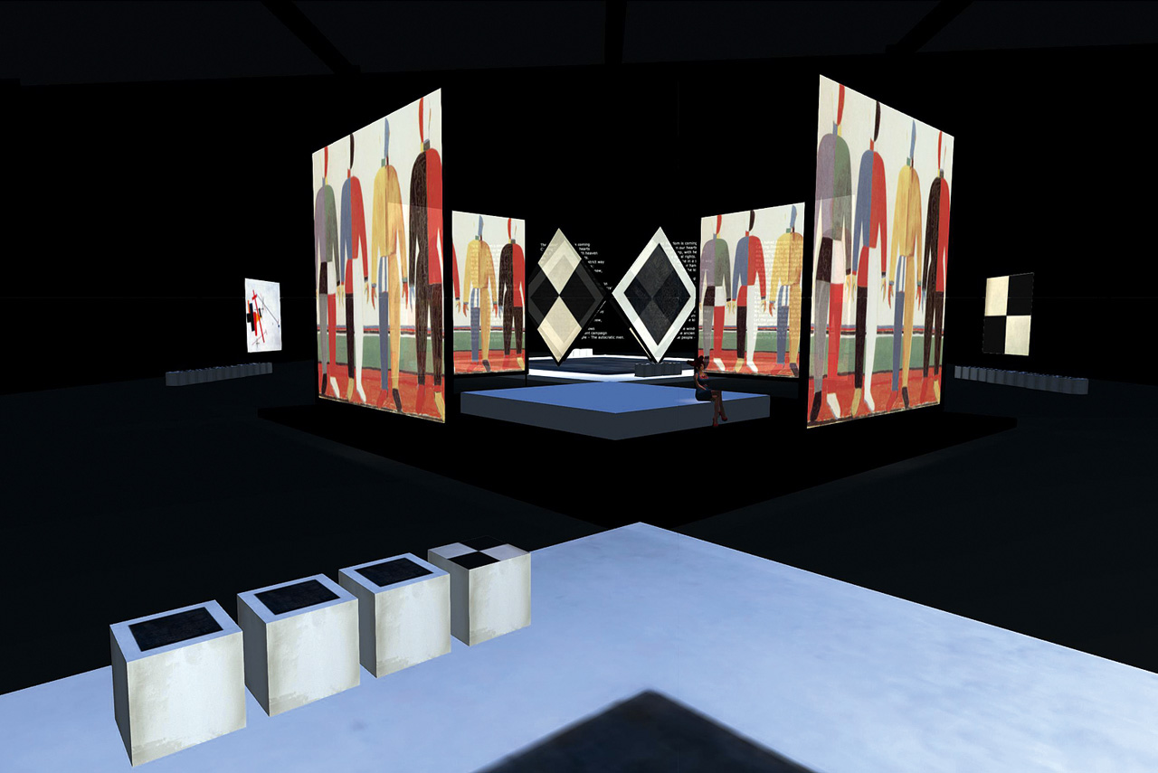 На выставке «Золотой век русского авангарда» произведения художников будут демонстрироваться на 18 экранах — но для мультимедийных выставок это не предел