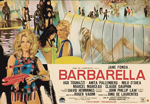 Афиша «Барбареллы» 1968 года
