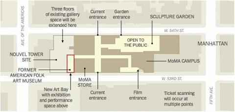 План реконструкции здания MoMA