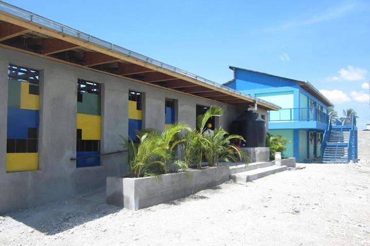 Школа Baptiste Bon Berger на Гаити, где компания Камерона Синклера занималась улучшением санитарных условий