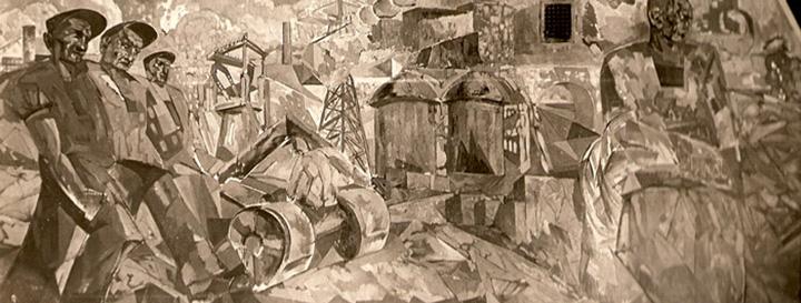 Роспись в Доме Стройбюро по репродукции 1930-х годов