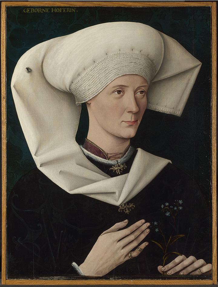 Портрет женщины из семьи Хофер. Неизвестный автор, около 1470