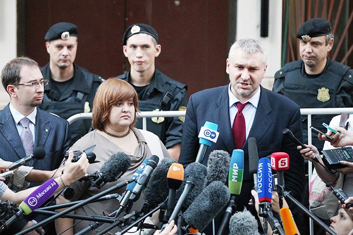 Адвокаты Pussy Riot—Николай Полозов, Виолетта Волкова и Марк Фейгин