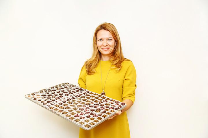 Алла Комиссарова, владелица шоколадного ателье «La Princesse Choco»