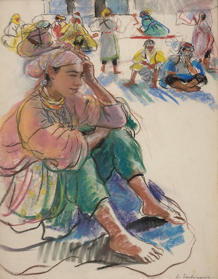 «Марокканка, сидящая на площади в Марракеше», 1928