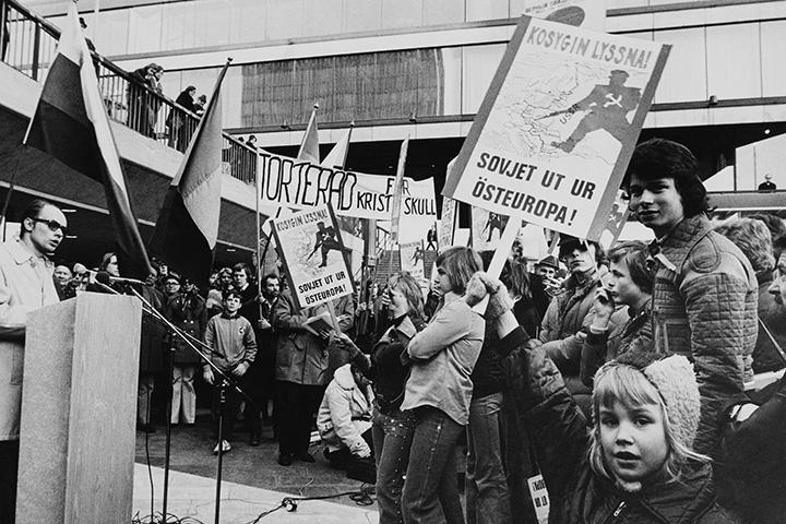Антисоветская демонстрация в Стокгольме в 1973 году