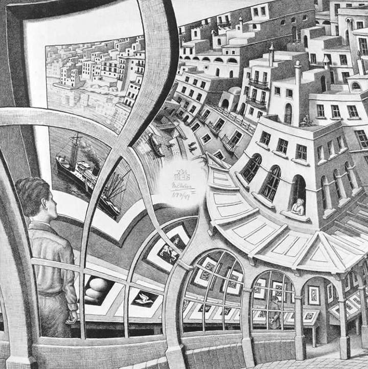 М.К.Эшер. «Картинная галерея», 1956