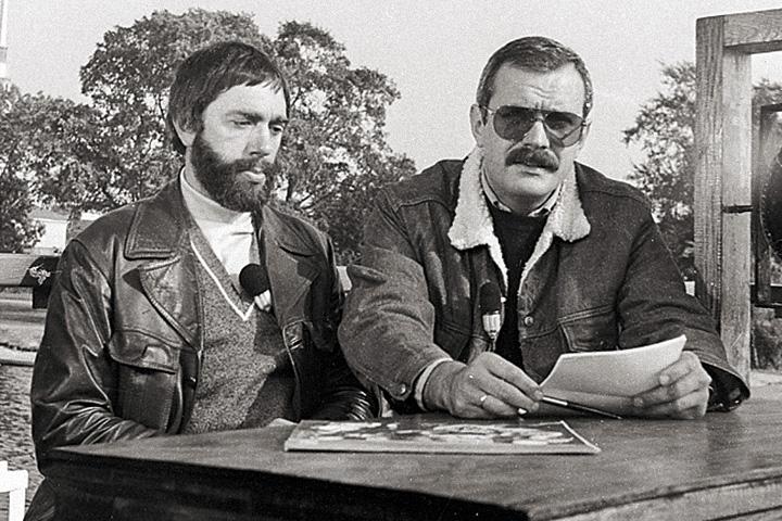Артемьев и Никита Михалков на записи телевизионной передачи в Ленинграде, 1982 год