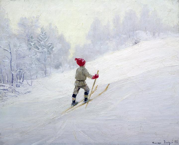Густав Венцель. Лыжная тренировка. 1898
