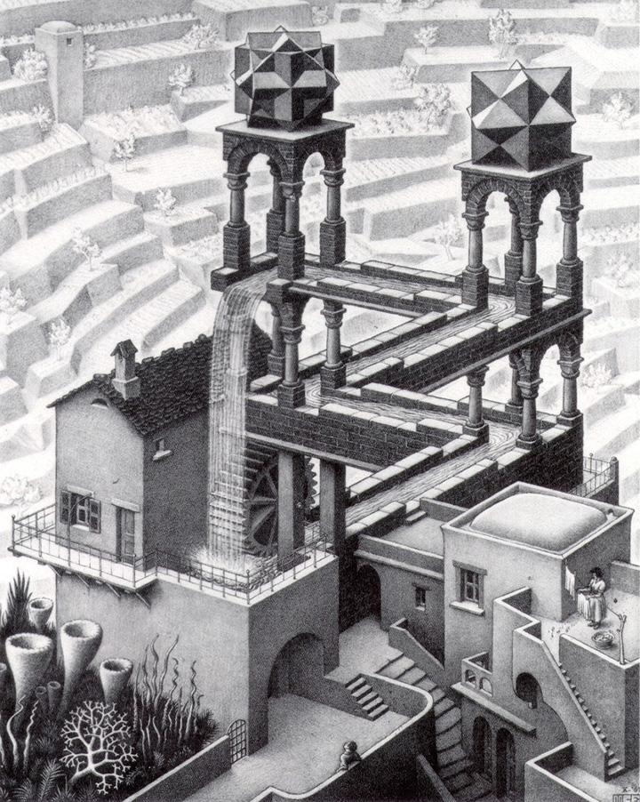 М.К.Эшер. «Водопад», 1961