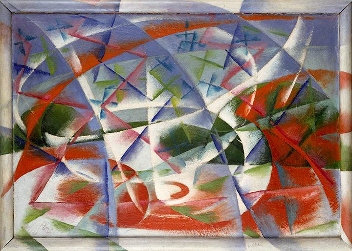 Абстрактная скорость + звук. Джакомо Балла, 1913–1914