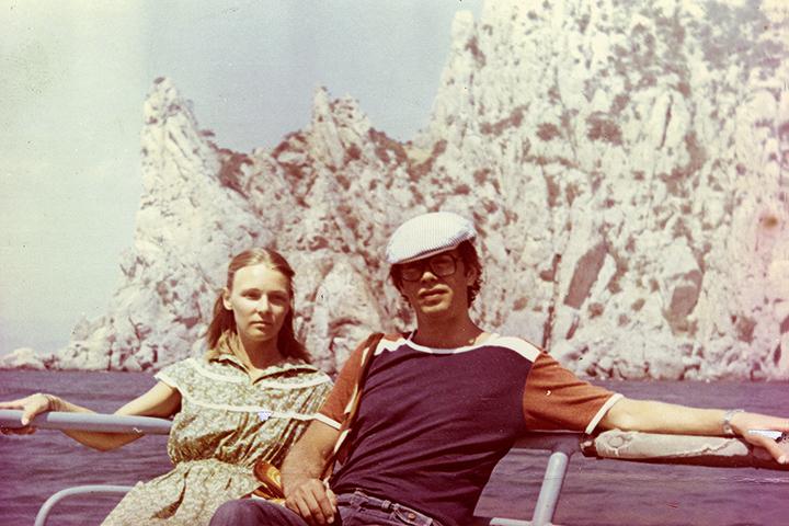 Валерий Подорога в Крыму с супругой, конец 1970-х