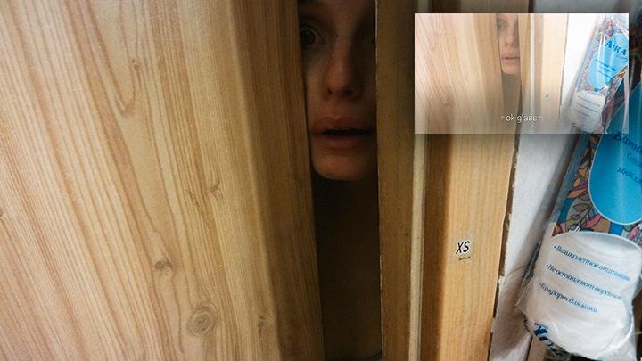 Жена автора текста Екатерина на третий день испытаний Google Glass