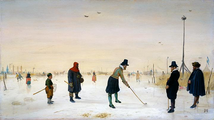 Хендрик Аверкамп. Игроки в кольф. 1625