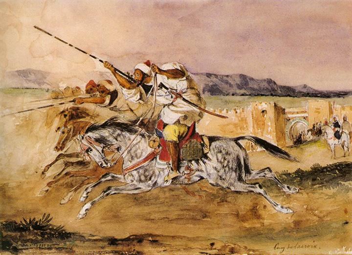 Эжен Делакруа. Арабская фантазия, 1832