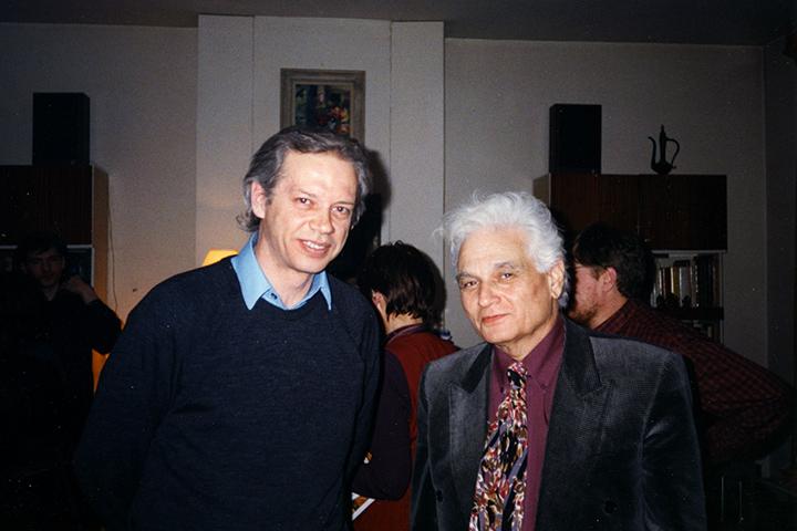 В 1991-м Валерий Подорога способствовал первому визиту одного из главных французских постструктуралистов Жака Деррида (справа) в Россию