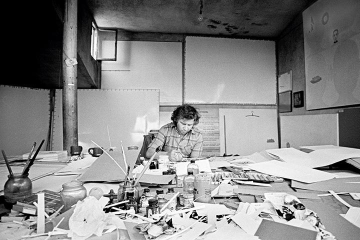 В знаменитой студии Ильи Кабакова на Сретенском бульваре сейчас располагается Институт проблем современного искусства