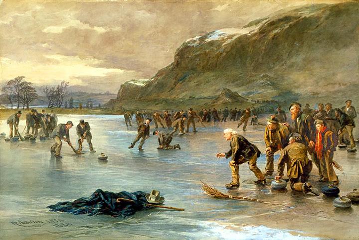 Роберт Андерсон. Керлинг на озере Даддингстон. 1880