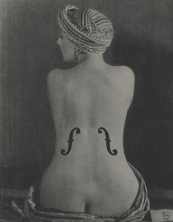 Ман Рей. Скрипка Энгра (Кики с Монпарнаса), 1924