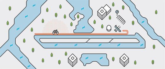 Трасса вдоль гребного канала