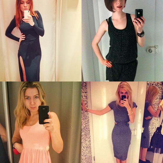 Девушки в примерочных раздевалках новые фото