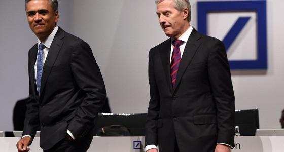 Сопредседатели правления Deutsche Bank Юрген Фичен и Аншу Джейн покидают свои посты