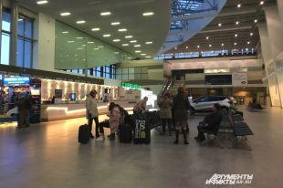 Вновом терминале пермского аэропорта посетители заметили трещины настенах
