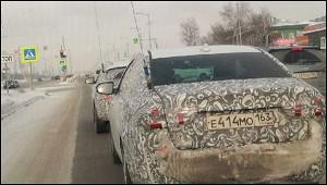 Обновленную Lada Vesta сняли навидео