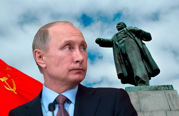 Путин антисоветчик ипотому всеэкраны российского ТВнаводнила низкопробная антикоммунистическая пропаганда