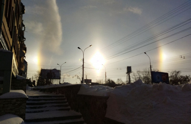 Солнце показало Новосибирску гало