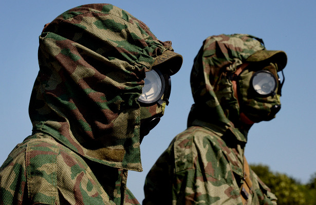 Войска РХБЗ подняты потревоге