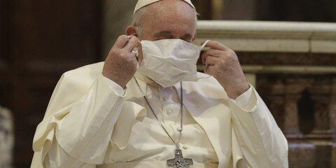 Папа Римский оказался подугрозой заражения коронавирусом