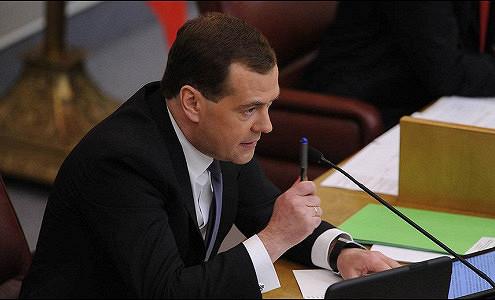 Медведев объявил замечания четырем заместителям министра