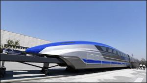 Китай представил поезд намагнитной подушке