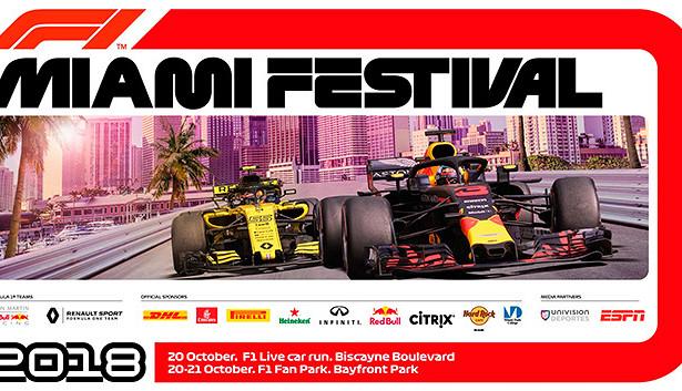 Майами примет последний фестиваль Формулы 1в2018 году