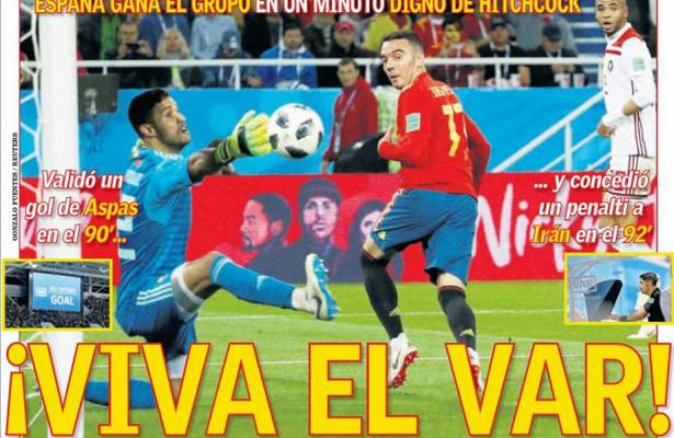 Обзор прессы. VARрешил исходы матчей Испании иПортугалии