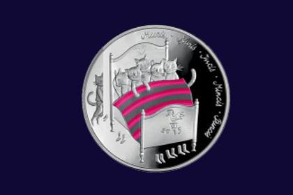 Банк Латвии выпустит монету с котиками