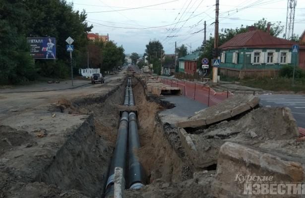 Курск. Подрядчики срывают ремонт теплосетей наКрасной Армии