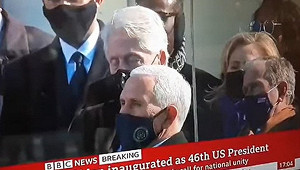 Билл Клинтон заснул вовремя инаугурации Байдена