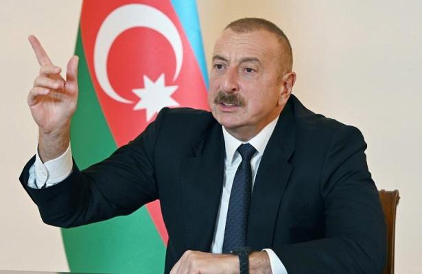 Алиев высказался опереходе армии натерриторию Армении