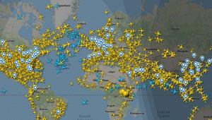 Сколько самолетов одновременно летает внебе